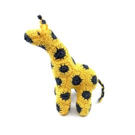 Crochete linen giraffe