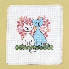 Siuvinėjimo kryželiu rinkinys Katinukai
