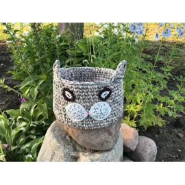 "Crochet basket ""The Cat"""