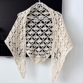 Crochete triangle shawl