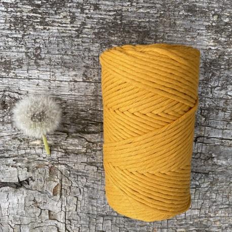 Medvilninė virvelė 3mm garstyčių spalvos