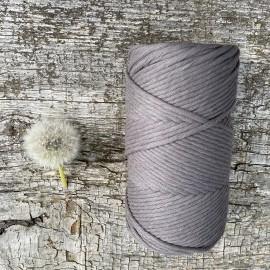Medvilninė virvelė 3mm tamsiai pilkos spalvos