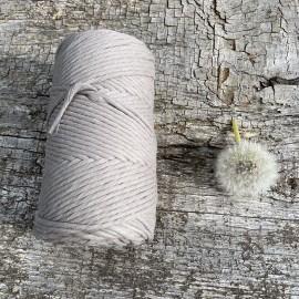Medvilninė virvelė 3mm šviesiai pilkos spalvos