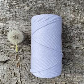 Medvilninė virvelė 3mm baltos spalvos