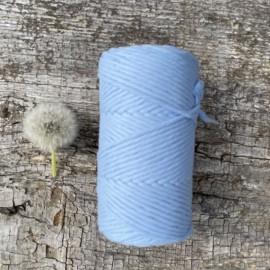 Medvilninė virvelė 3mm mėlynos spalvos