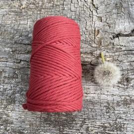 Medvilninė virvelė 3mm bordo spalvos