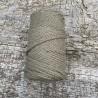 Medvilninė virvelė 3mm chaki spalvos