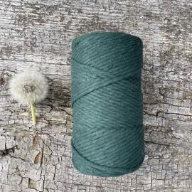 Medvilninė virvelė 3mm žalios spalvos