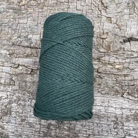 Medvilninė virvelė 3mm žalia sukta
