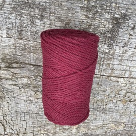 Medvilninė virvelė 3mm vyšninė sukta