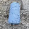 Medvilninė virvelė 3mm žydra sukta