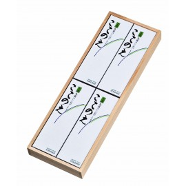 Kokonoe short 4 small boxes wooden box, 14cm, 1 dėžutė 40gr